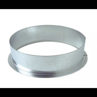 Anschlussflansch, 125 mm, Metall, Rund