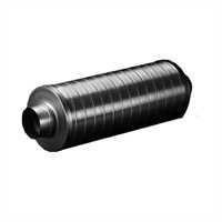 Schalldämpfer 125 mm 90 cm Länge