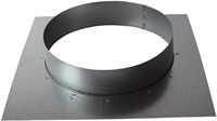 Wandflansch, 100 mm, Metall, eckig