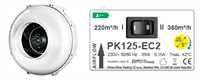 Prima Klima 125-EC II Speed Ventilator, 220-360m³/