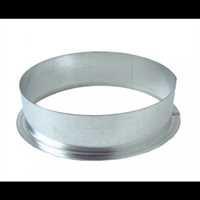Anschlussflansch, 150 mm, Metall, Rund