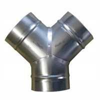 Y-Stück mit drei 160 mm Anschlüssen