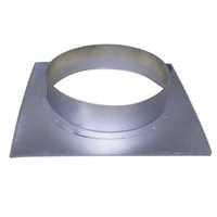 Wandflansch, 160 mm, Metall, eckig